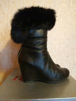 Кожаные зимние сапоги за 800 рублей