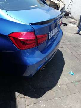 BMW F30 M4 style boot spoilers Free State