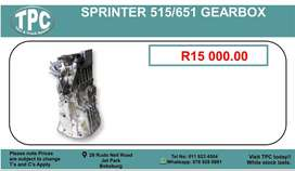 Sprinter 515/651 Gearbox For Sale.