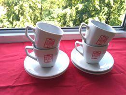 набор чайной кофейной посуды чашек тарелок 4 персоны