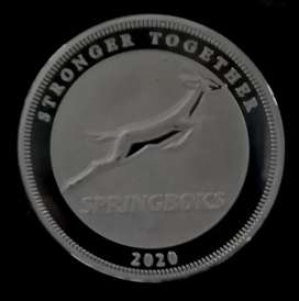 1 Ounce 2020 Springbok Rugby Sterling Silver Medal
