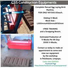 06drop Complete Manual Egg Laying V-Block Machine