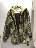 Bluza męska z kapturem zielona jak nowa