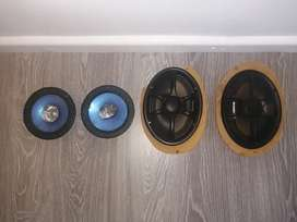 Kenwood big and small speakers