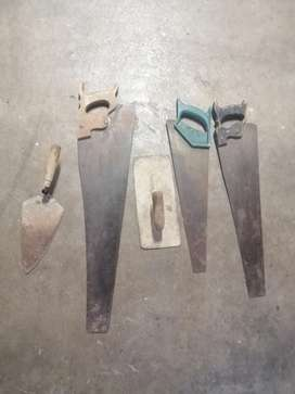3 x saws and building tools for sale