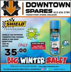 Shield Car Interior Disinfecting Fogger ONLY R35 at Downtown Spares!