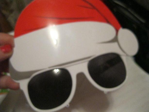 детские очки маскарад дед мороз сувенир игрушка новый год типа стекла