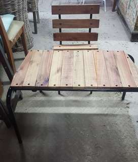 Wooden kiddies table with chair