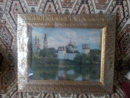 Картина на гобелене*Новодевичий монастырь*