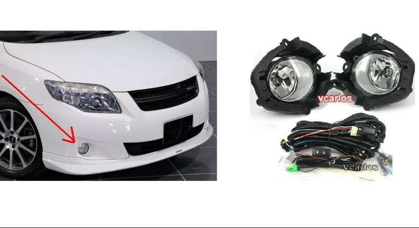 D-Light Fog lamp set with mountings: For Toyota Fielder: Yr2008/9 0