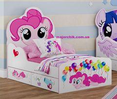 Кроватка розовая для девочки Little Pony Пинки Пай в наличии Литл Пони