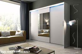 Szafa Przesuwna Garderoba WIKA 1 250cm LED 10dni PRODUCENT 5 kolorów