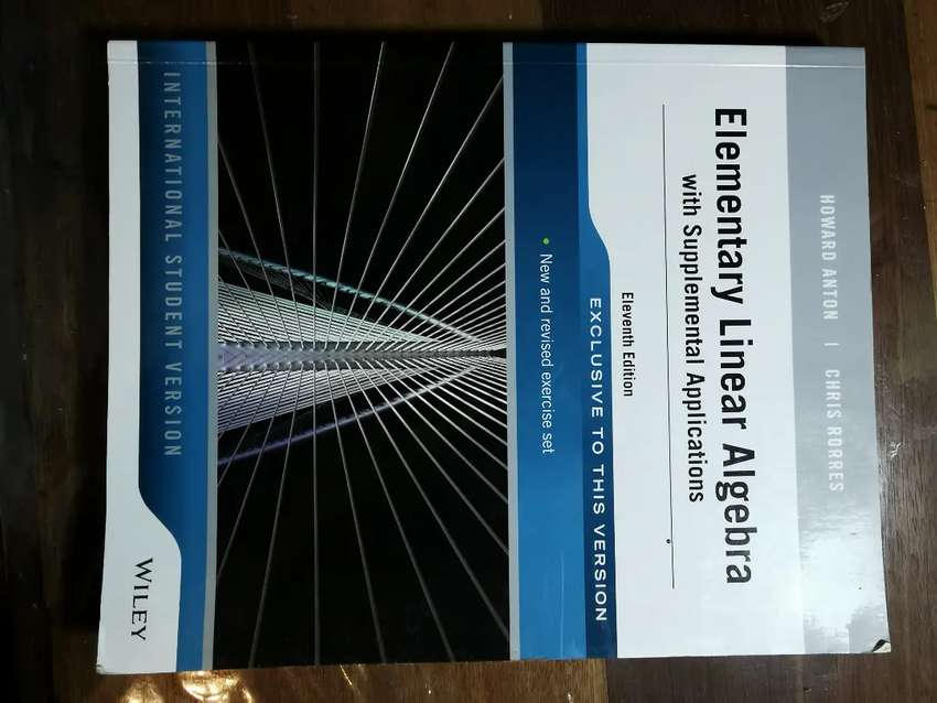 UNISA : Elementary Linear Algebra with Supplemental Applications 0