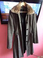 Пальто серое с съёмным мехом Colin's