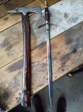 Home made Viking axe and medievil dagger forsale