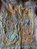 Теплое яркое детское одеяло со зверюшками. Размер 90 на 115 см.