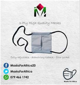 3-PLY Quality Cloth Face Masks
