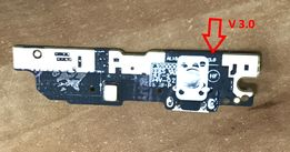 Нижняя плата Meizu M3 Note L681H версия 3.0 с разъемом зарядки