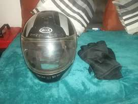 Bike helmet (good condition) R500 with new winter's glove s