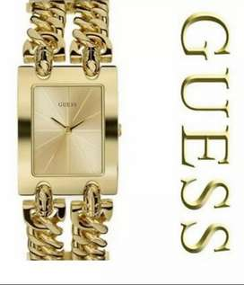 Guess Gold Double Chain Ladies Watch - ModeI I90176l1