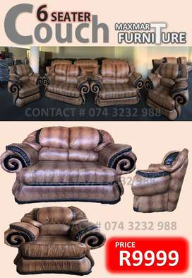COUCH 6 SEATER SOLID