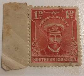 British South Africa Company, Rhodesia, King George V, 1913 Set of 3