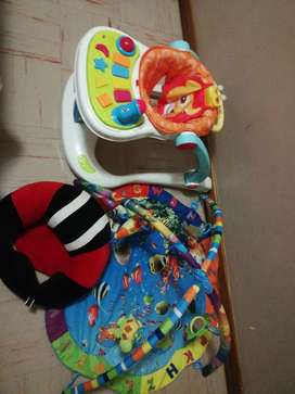 Baby walker, tummy time mat and baby couch