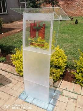 C Shape Full Frosted Front Perspex Lectern