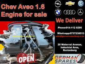 Chev aveo 1.6 engine for sale