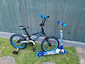 Avalanche Boys Ziod 16 with training wheels