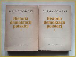Historia demokracji polskiej-B. Limanowski/1957/historia,polityka,wojn