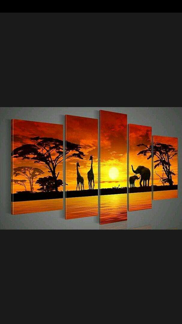 Sunset paintings for wall decoration 0