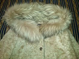 Шуба, дубленка натуральная, куртка зимняя, кожа, мех-Енот,Барсук