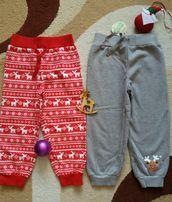 Теплые штаны, утепленные брюки, спортивные с начесом Bon Prix 92-98 см