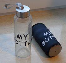 Модна еко-пляшка для води, 400 мл / Эко-бутылка для воды