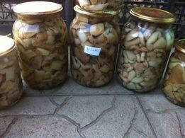 Вкусные домашние грибы 1Л банка