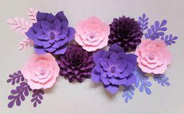 Kwiaty z papieru chanel papierowe ścianka kwiatowa wesele ślub love