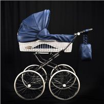 Wózek dziecięcy retro wielofunkcyjny wiklinowy 100 %NOWY