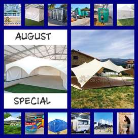 Marquee Peg and Pole Frame Canvas Stretch Tents Mobile Vip Toilet