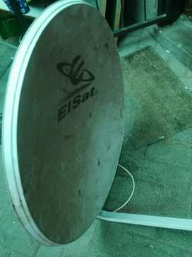 Elsat sattellite dish with lnb and wall bracket