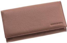 Женский кожаный кошелек под много карт на магните Marco Coverna .