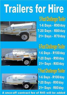 Challenger Trailers for hire - Strand