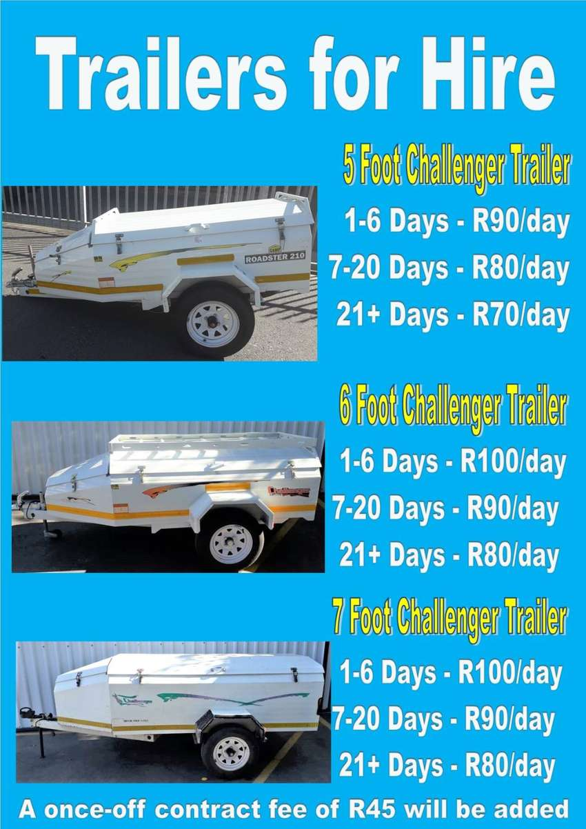 Challenger Trailers for hire - Strand 0