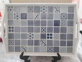 Mosaic tray with stand