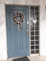Drzwi drewniane + plastikowe
