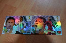 karty piłkarskie messi ronaldo panini fifa world cup brasil