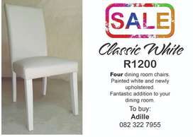 Classic White Dining room chairs