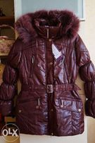 Зимнее пальто, пуховик, куртка для девочки,новое,опушка-песец,р. 36-42