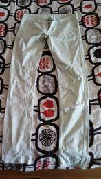 Spodnie mietowe jasny kolor mietowy rurki r 38