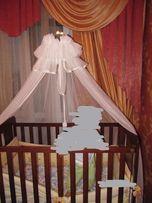 детская кроватка MICUNA с матрасом и балдахином